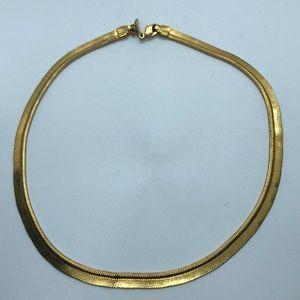 VTG Napier Gold Tone Choker Flexible Mesh Chain